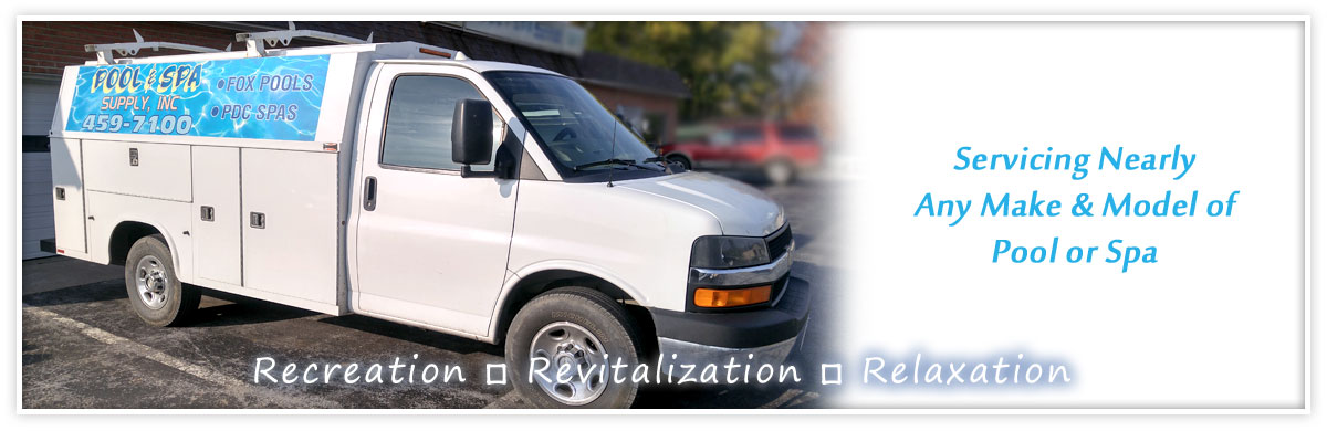 Service Van for Pool & Spa Supply - Servicing Nearly Any Make & Model of Pool or Spa